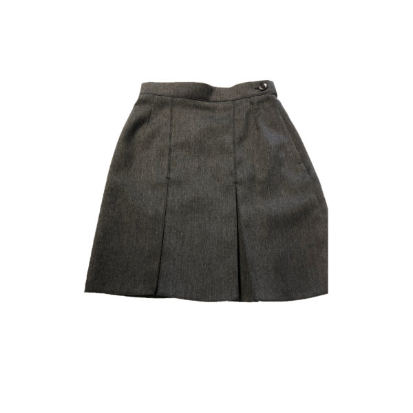 "A Line 2 Pleated Skirt 16"" - Grey Shop"