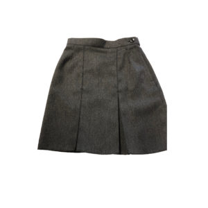 "A Line 2 Pleated Skirt 18"" - Grey Shop"