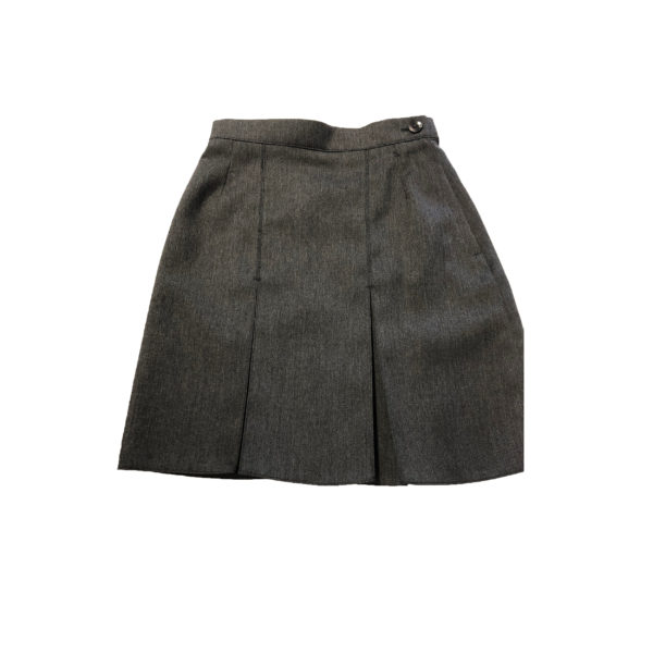 "A Line 2 Pleated Skirt 22"" - Grey Shop"