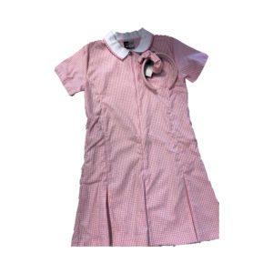 Checked Summer Dress - Pink Shop