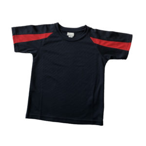 Dorridge P.E. Top - Navy / Red Shop