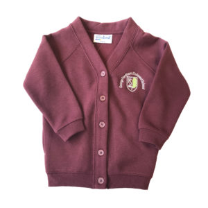 George Fentham Sweat Cardigan - Maroon Shop