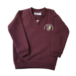 George Fentham ' V' Neck Sweatshirt - Maroon Shop