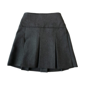 Girls Drop Waisted Skirt with Pleats - Grey Shop