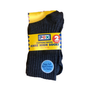 Knee High Socks Cotton / Wool(Pex) - Grey Shop