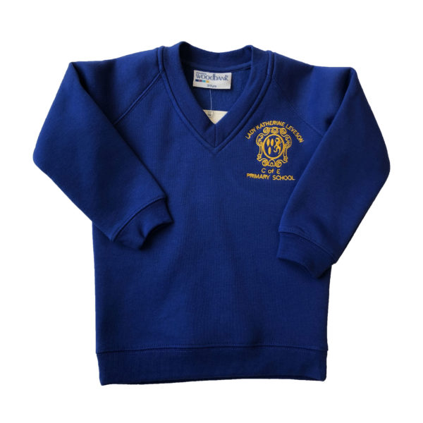Lady Katherine Leveson Nursery 'V' Neck Sweatshirt - Blue Shop