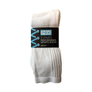 Sport Sock Twin-Pack (Pex) - White Shop