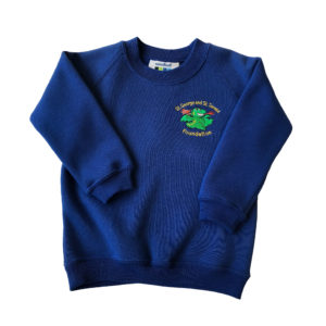St George & St Teresa Nursery Sweatshirt - Royal Shop